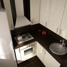 Холодильник рядом с плитой
