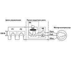 электрическая схема холодильника бирюса